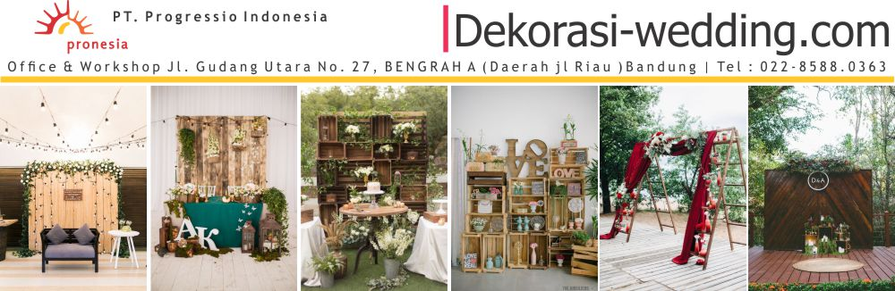 Rental vendor dekorasi wedding rustic  Bandung