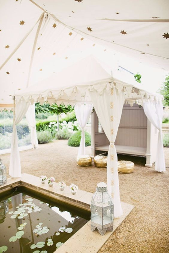 Ceremony Rustic Tent White