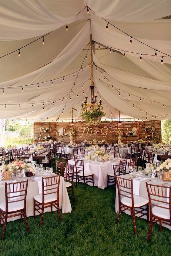 Simple Rustic Tent Decoration