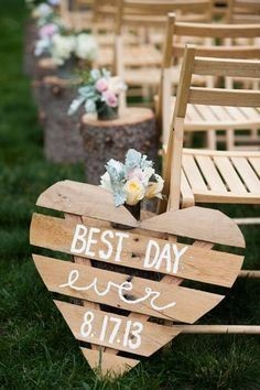 pallet wedding sign