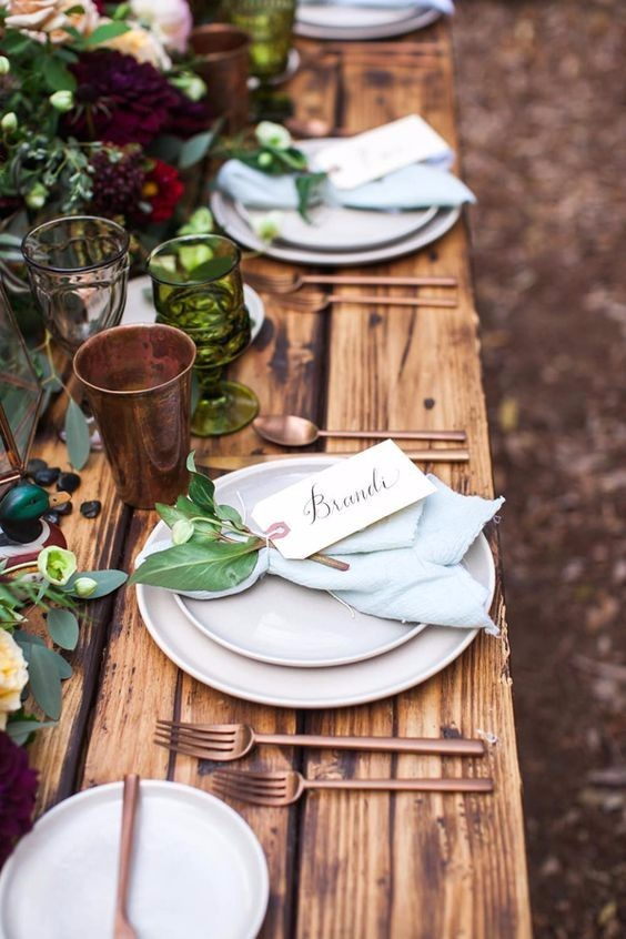 rustic inspired wedding table